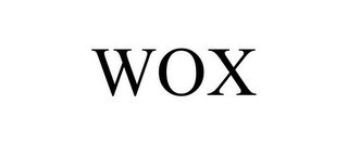 mark for WOX, trademark #86830095