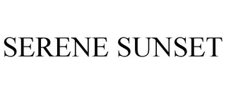 mark for SERENE SUNSET, trademark #86955470
