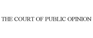 mark for THE COURT OF PUBLIC OPINION, trademark #86961153