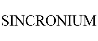 mark for SINCRONIUM, trademark #87006285