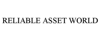 mark for RELIABLE ASSET WORLD, trademark #87017122