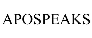 mark for APOSPEAKS, trademark #87056199