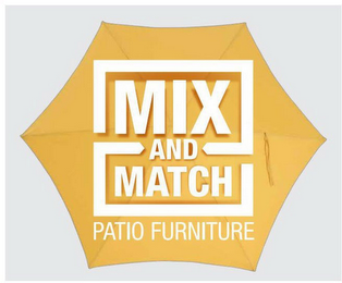 mark for MIX AND MATCH PATIO FURNITURE, trademark #87058327