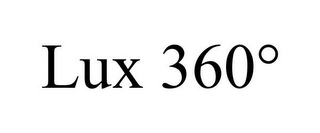 mark for LUX 360°, trademark #87059098
