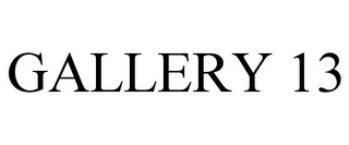 mark for GALLERY 13, trademark #87089296