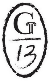 mark for G 13, trademark #87089527