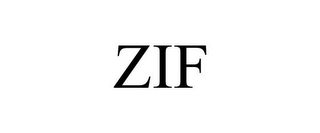 mark for ZIF, trademark #87105343