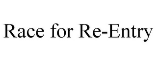 mark for RACE FOR RE-ENTRY, trademark #87123584