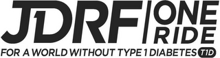 mark for JDRF ONE RIDE FOR A WORLD WITHOUT TYPE 1 DIABETES T1D, trademark #87126104