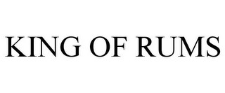 mark for KING OF RUMS, trademark #87144065
