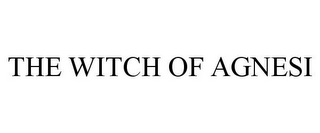 mark for THE WITCH OF AGNESI, trademark #87169681