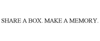 mark for SHARE A BOX. MAKE A MEMORY., trademark #87190834