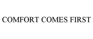mark for COMFORT COMES FIRST, trademark #87208486