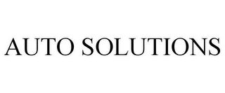 mark for AUTO SOLUTIONS, trademark #87215023