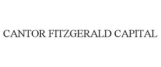 mark for CANTOR FITZGERALD CAPITAL, trademark #87223799