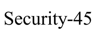 mark for SECURITY-45, trademark #87243472