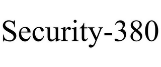 mark for SECURITY-380, trademark #87243482