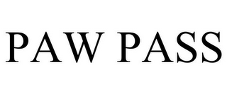 mark for PAW PASS, trademark #87247044