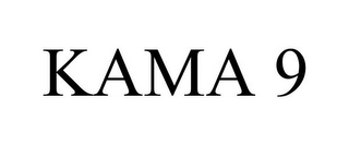 mark for KAMA 9, trademark #87325669