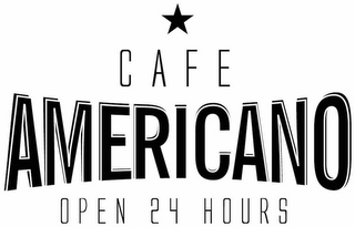 mark for CAFE AMERICANO OPEN 24 HOURS, trademark #87335554