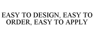 mark for EASY TO DESIGN, EASY TO ORDER, EASY TO APPLY, trademark #87360124