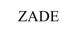 mark for ZADE, trademark #87371161