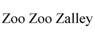 mark for ZOO ZOO ZALLEY, trademark #87386805