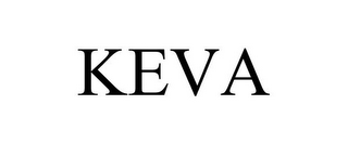 mark for KEVA, trademark #87395411