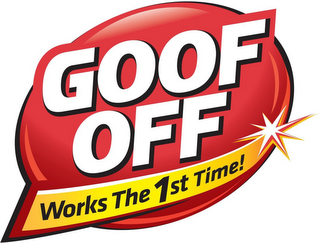 mark for GOOF OFF WORKS THE 1ST TIME!, trademark #87408642