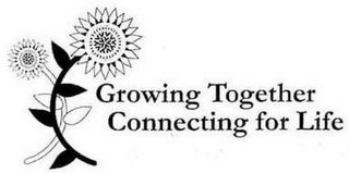 mark for GROWING TOGETHER CONNECTING FOR LIFE, trademark #87425630