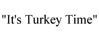"mark for ""IT'S TURKEY TIME"", trademark #87436244"
