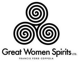 mark for GREAT WOMEN SPIRITS LTD. FRANCIS FORD COPPOLA, trademark #87442669