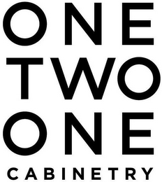 mark for ONE TWO ONE CABINETRY, trademark #87470156