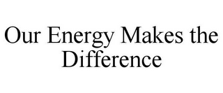 mark for OUR ENERGY MAKES THE DIFFERENCE, trademark #87527372