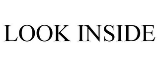 mark for LOOK INSIDE, trademark #87533742