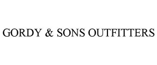 mark for GORDY & SONS OUTFITTERS, trademark #87535691