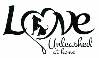 mark for LOVE UNLEASHED AT HOME, trademark #87548975