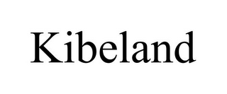 mark for KIBELAND, trademark #87574168