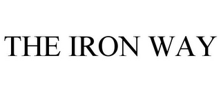 mark for THE IRON WAY, trademark #87592475