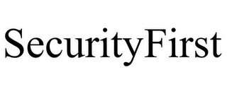 mark for SECURITYFIRST, trademark #87610809
