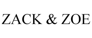 mark for ZACK & ZOE, trademark #87657523