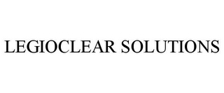 mark for LEGIOCLEAR SOLUTIONS, trademark #87662412