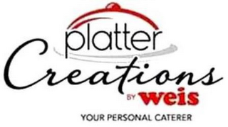 mark for PLATTER CREATIONS BY WEIS YOUR PERSONAL CATERER, trademark #87662861