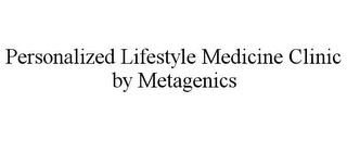 mark for PERSONALIZED LIFESTYLE MEDICINE CLINIC BY METAGENICS, trademark #87668247