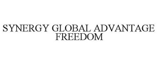 mark for SYNERGY GLOBAL ADVANTAGE FREEDOM, trademark #87674522