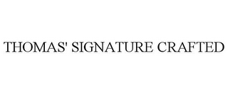 mark for THOMAS' SIGNATURE CRAFTED, trademark #87687435