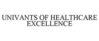 mark for UNIVANTS OF HEALTHCARE EXCELLENCE, trademark #87688082