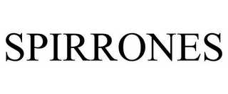 mark for SPIRRONES, trademark #87711736