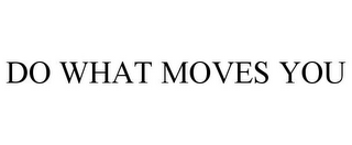 mark for DO WHAT MOVES YOU, trademark #87726829
