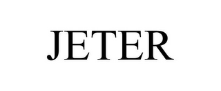 mark for JETER, trademark #87731720